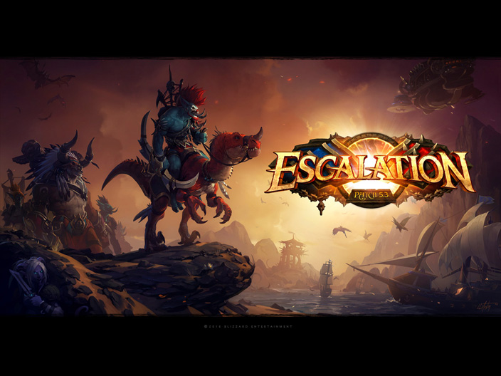 B World of Warcraft/b Патч/b 5.3: Обои по теме Escalation 1/12.