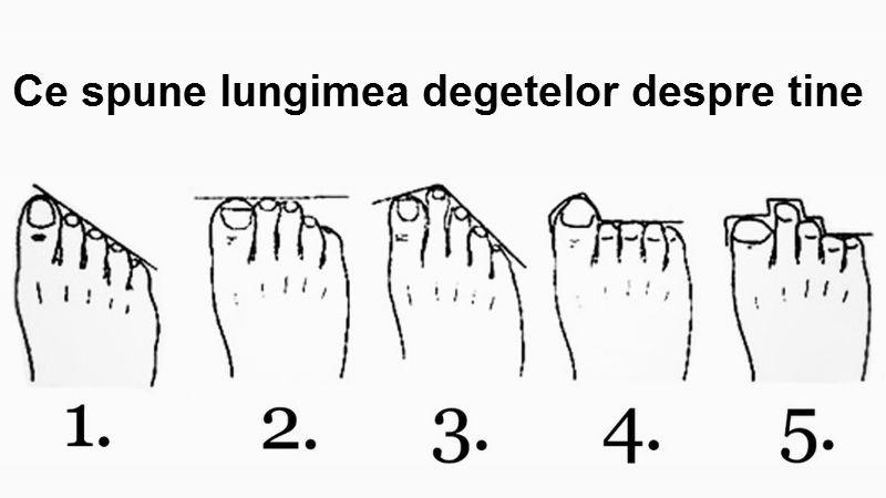 Testul degetelor de la picioare îţi dă de gol secretele