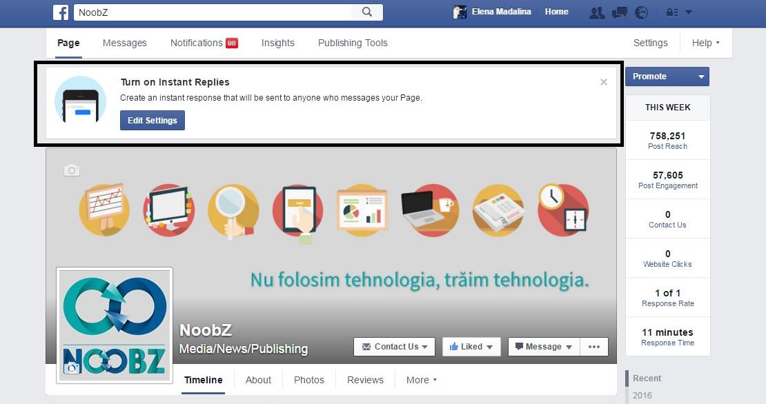 mesaje instant facebook
