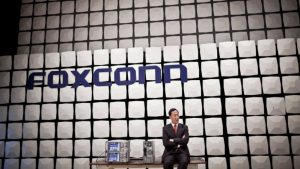 "Gou Tai-Ming ""Terry"", chairman and president of Hon Hai Precision Industry Co Ltd., speaks at the product testing facility on the Foxconn City complex in Shenzhen, China, on Saturday, Sept. 4, 2010. Foxconn Technology Group Chairman Terry Gou cut his long-term growth target for the world's largest contract manufacturer of electronics by 50 percent as demand for Apple Inc. iPhones and iPads fails to offset slowing computer sales. Photographer: Thomas Lee/Bloomberg via Getty Images"