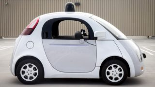 A prototype of Google's own self-driving vehicle is seen during a media preview of Google's current autonomous vehicles in Mountain View, California in this September 29, 2015 file photo.   REUTERS/Elijah Nouvelage/Files