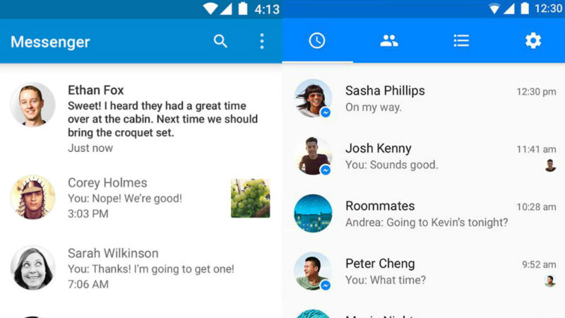 Facebook messenger prime te o schimbare major de design for O architecture facebook