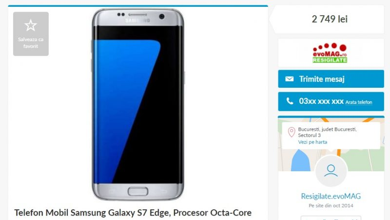 Samsung Galaxy S7 Edge Resigilat Pe Olx Mai Scump Decat Unul Nou