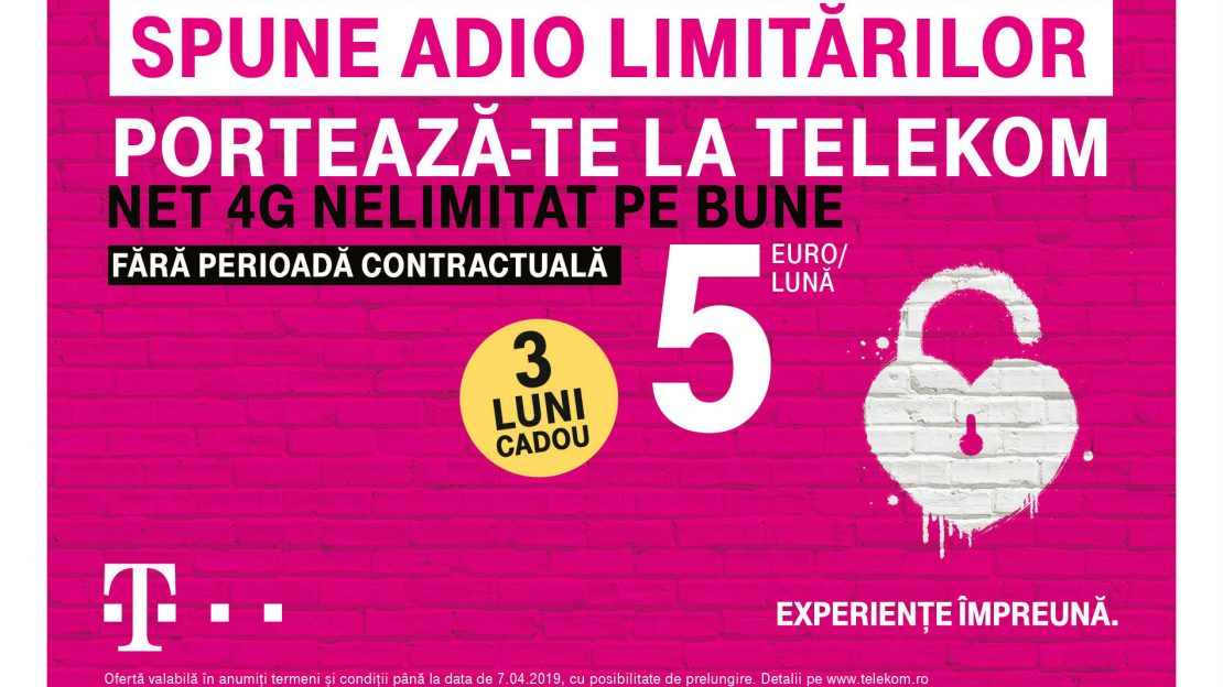 Telekom oferă 3 luni gratuite