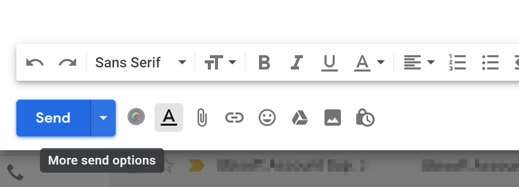 Cum programezi trimiterea unui email pe Gmail - Apasă triunghiul cu vârful în jos pentru mai multe opțiuni