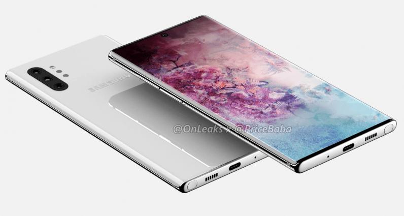 Primele randări neoficiale ale Samsung Galaxy Note 10