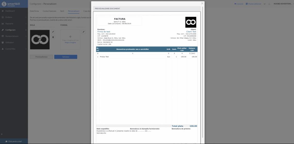 factura personalizata