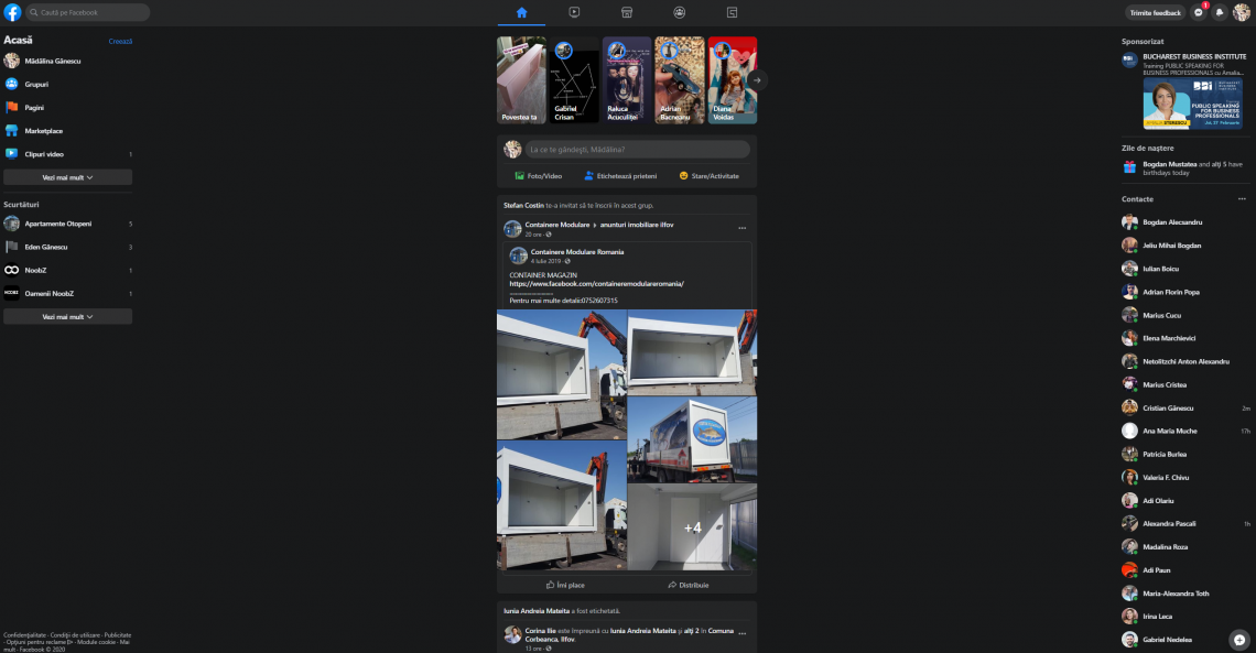 Noua interfață Facebook cu mod întunecat e aici