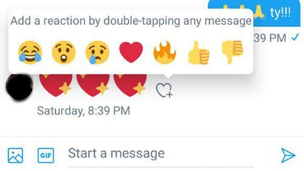 Twitter introduce reacțiile pentru mesajele directe