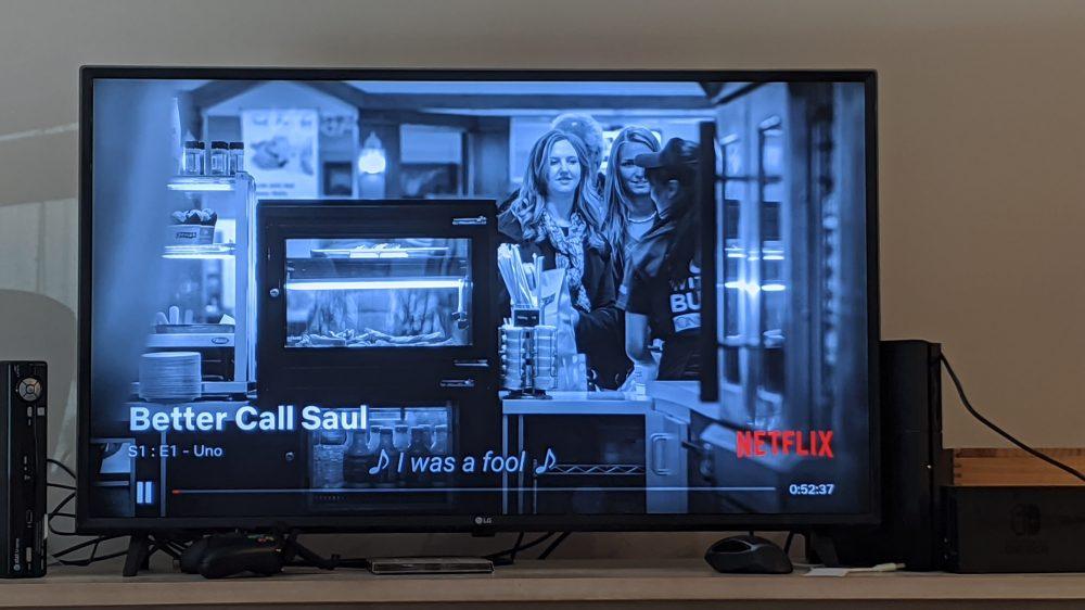 Netflix Chromecast interfață