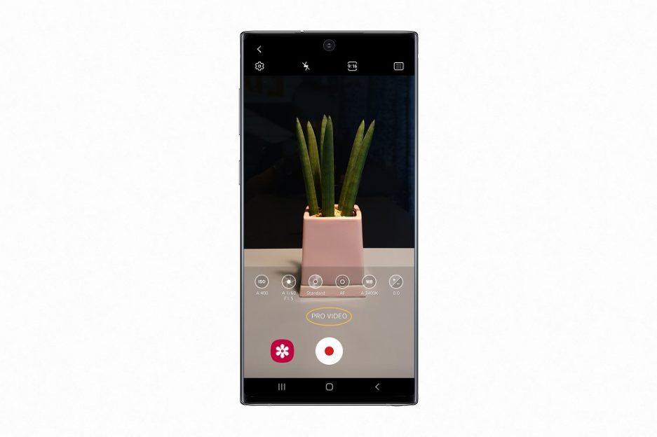 Înregistrare video cu modul Pro Video pe Galaxy Note10