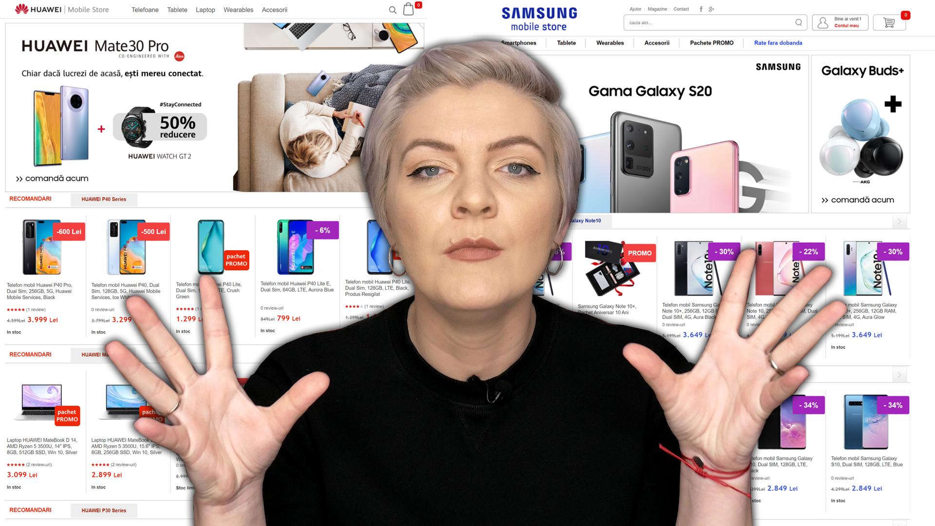 Huawei copiază magazinul online Samsung