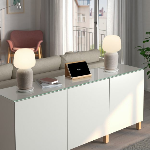 SYMFONISK table lamp with WiFi speaker white_low res
