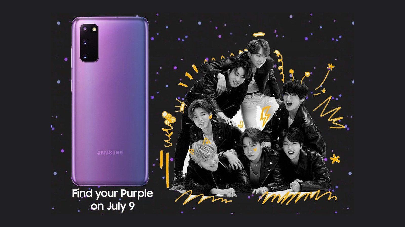 Samsung aduce Galaxy S20 Plus BTS