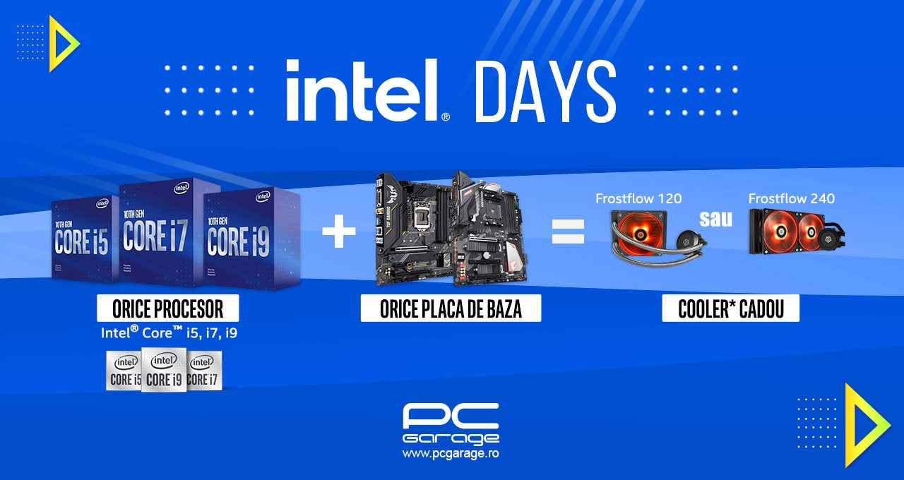 PC Garage anunță campania 'Intel Days: Te echipăm gratuit'