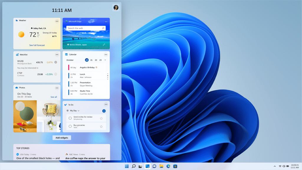 Microsoft readuce Widgets