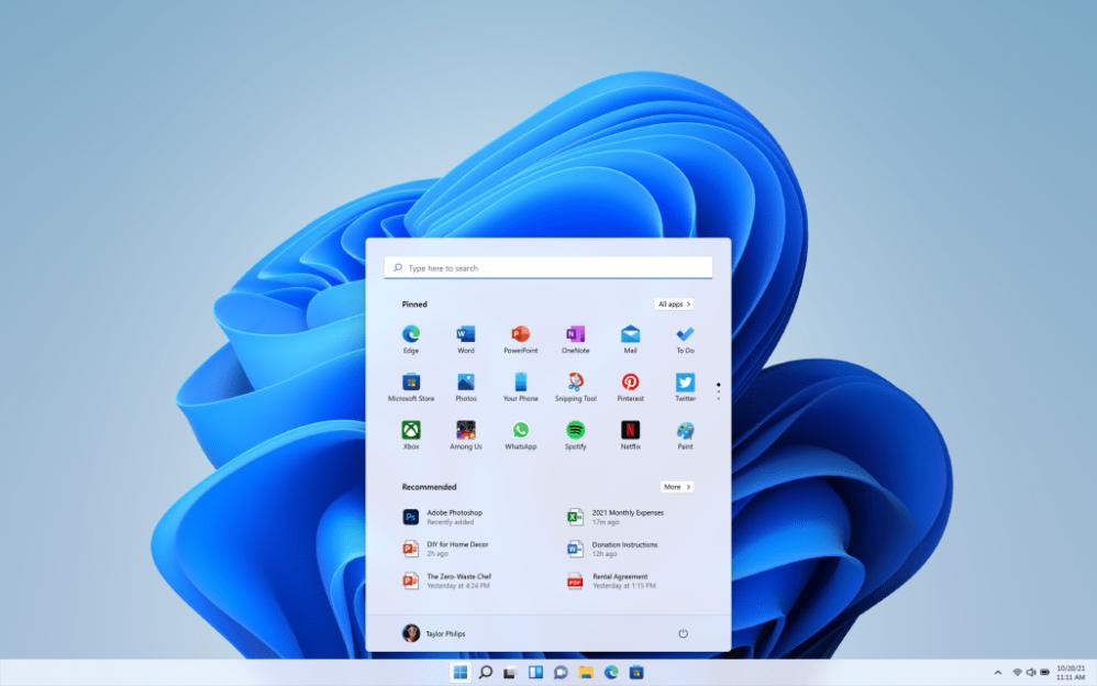Windows 11 vine cu un nou design